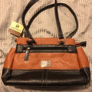 Stone & Co. Brown and black shoulder bag